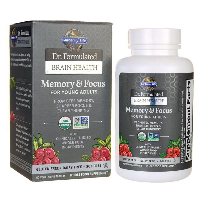 Garden of Life Dr. Formulated Memory & Focus for Young Adults