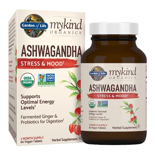 Garden of life mykind organics ashwagandha stress mood 30 vegan tabs swanson health products for Garden of life probiotics mood