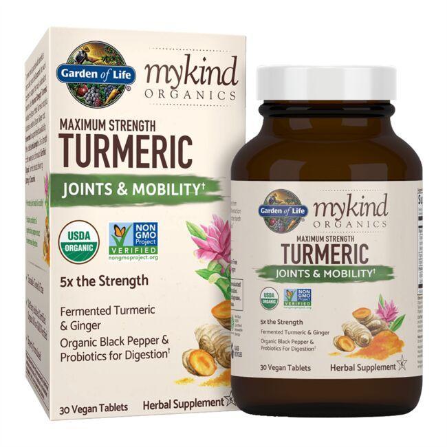Garden of Lifemykind Organics Maximum Strength Turmeric Joints & Mobility