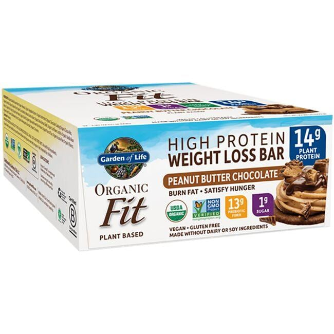 Garden of Life Organic Fit Protein Bars - Peanut Butter Chocolate