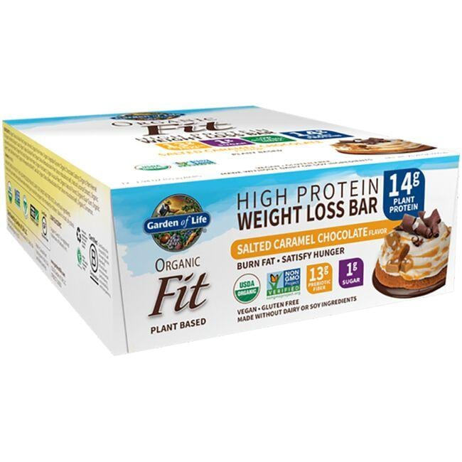 Garden of Life Organic Fit Protein Bars - Sea Salt Caramel
