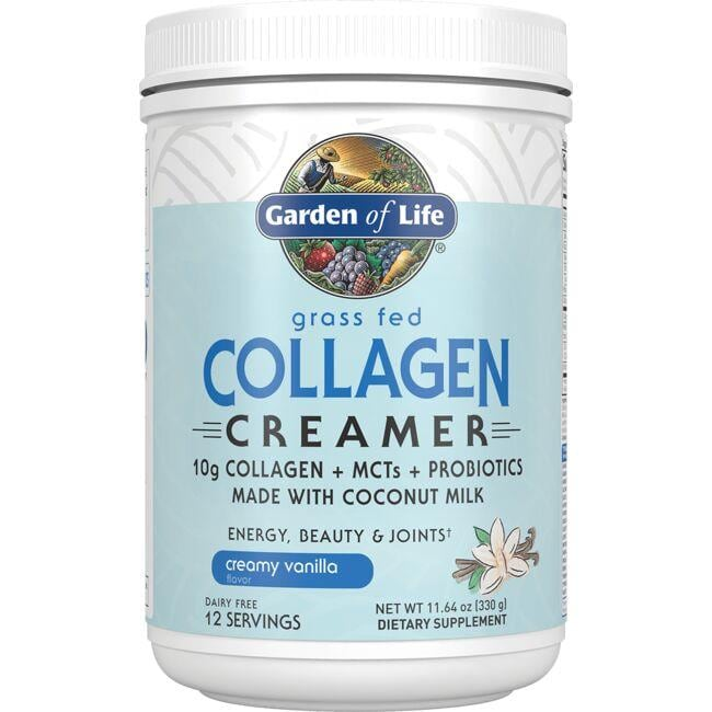 Garden of Life Grass Fed Collagen Creamer - Creamy Vanilla