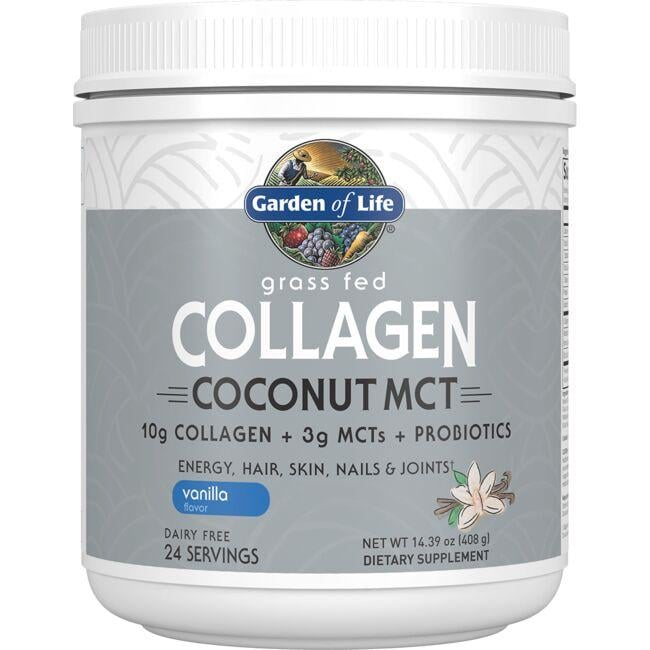 Garden of LifeGrass Fed Collagen Coconut MCT - Vanilla