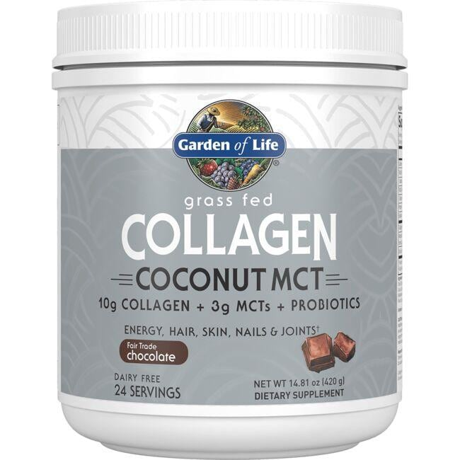 Garden of Life Grass Fed Collagen Coconut MCT - Chocolate