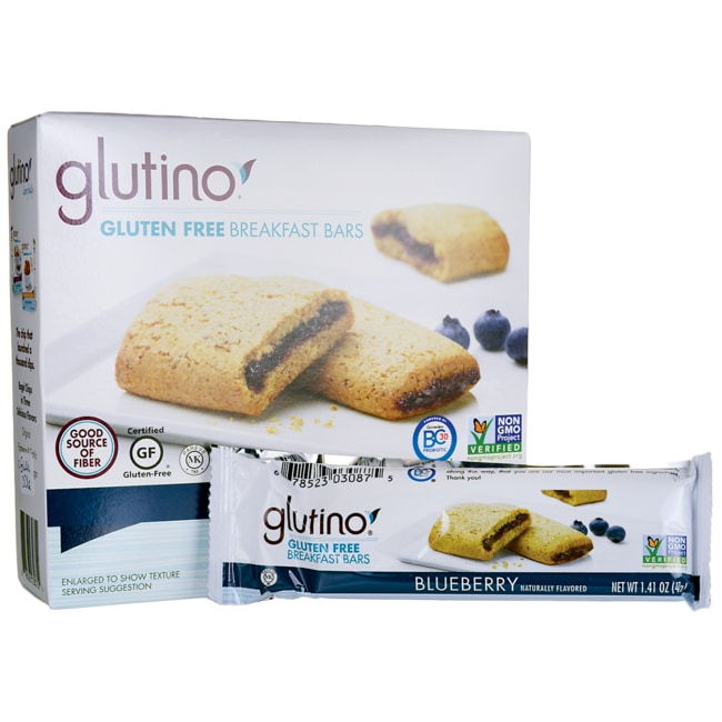 GlutinoGluten Free Breakfast Bars - Blueberry