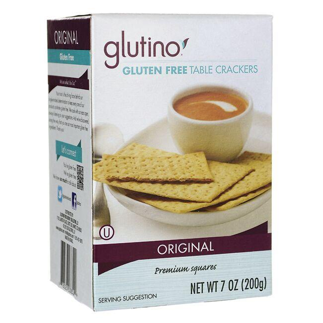 glutino gluten free table crackers 7 oz box swanson