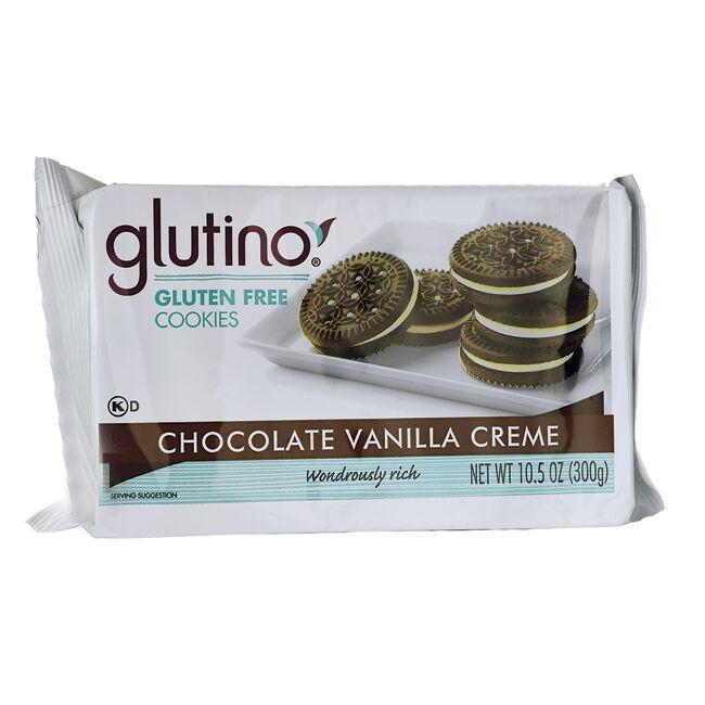 GlutinoGluten Free Dream Cookies - Chocolate Vanilla Creme