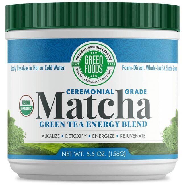 Green Foods Organic Matcha Green Tea Energy Blend