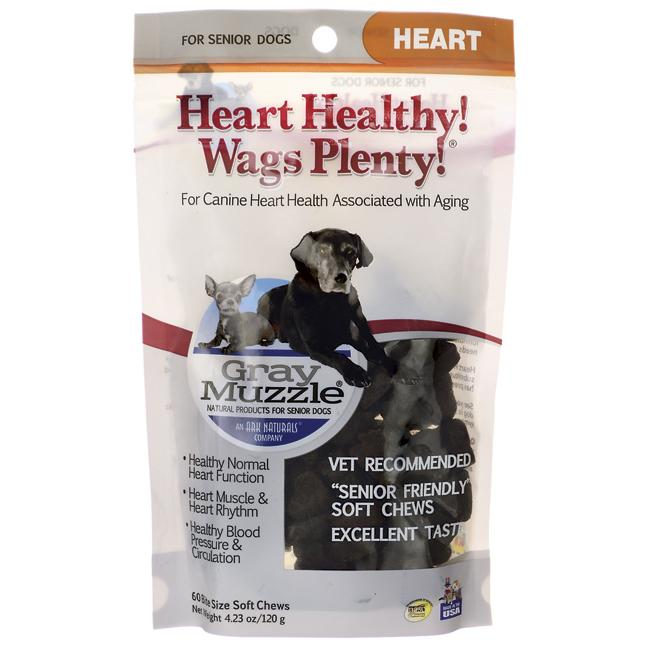 Gray Muzzle Heart Healthy! Wags Plenty!