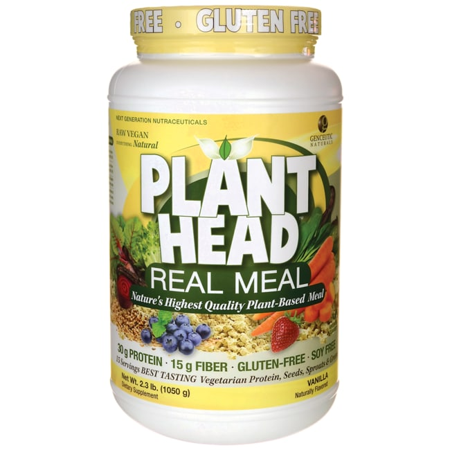 Genceutic NaturalsPlant Head Real Meal - Vanilla