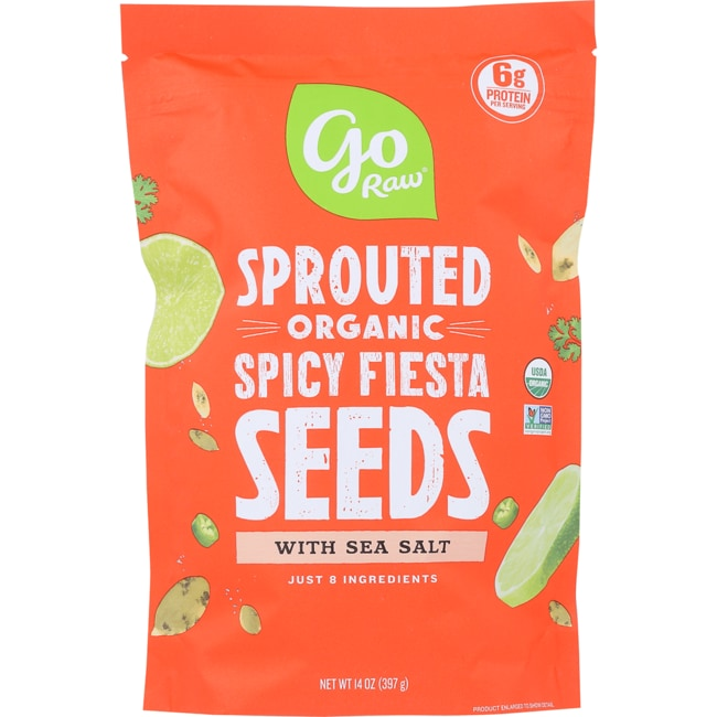 Go Raw Sprouted Spicy Fiesta Seeds with Celtic Sea Salt