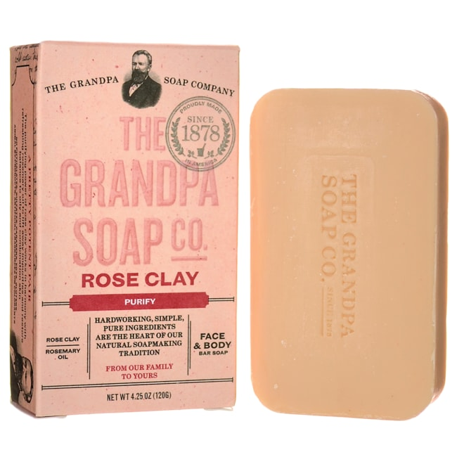 Grandpa Soap Co.Rose Clay Soap