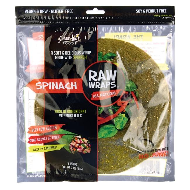 Green Leaf FoodsRaw Wraps - Spinach