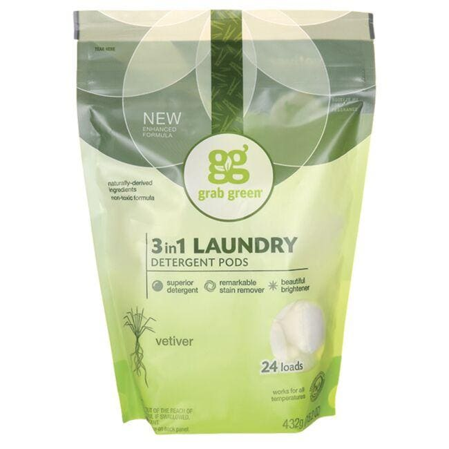 GrabGreen3-in-1 Laundry Detergent Pods - Vetiver