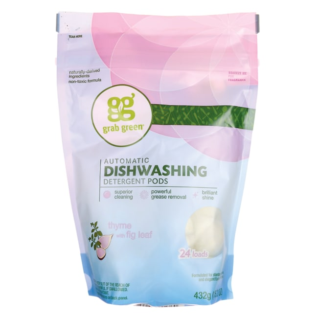 GrabGreenAutomatic Dishwashing Detergent Pods - Thyme withFig Le
