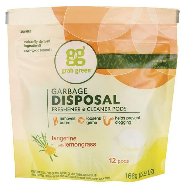 GrabGreenGarbage Disposal Freshener & Cleaner Pods