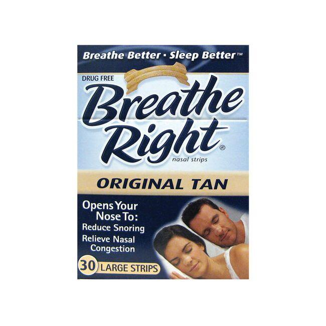 Breathe Right Nasal Strips Original Tan - Large