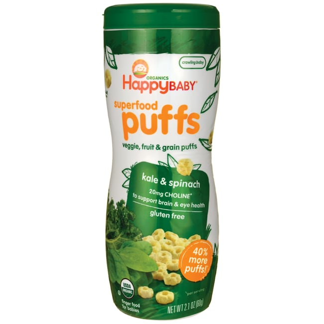 HappyBaby Organic Greens Puffs