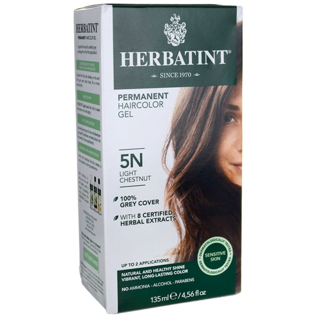 Herbatint Permanent Haircolor Gel 5N Light Chestnut