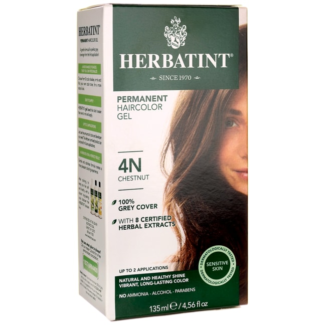 Herbatint Permanent Haircolor Gel 4N Chestnut