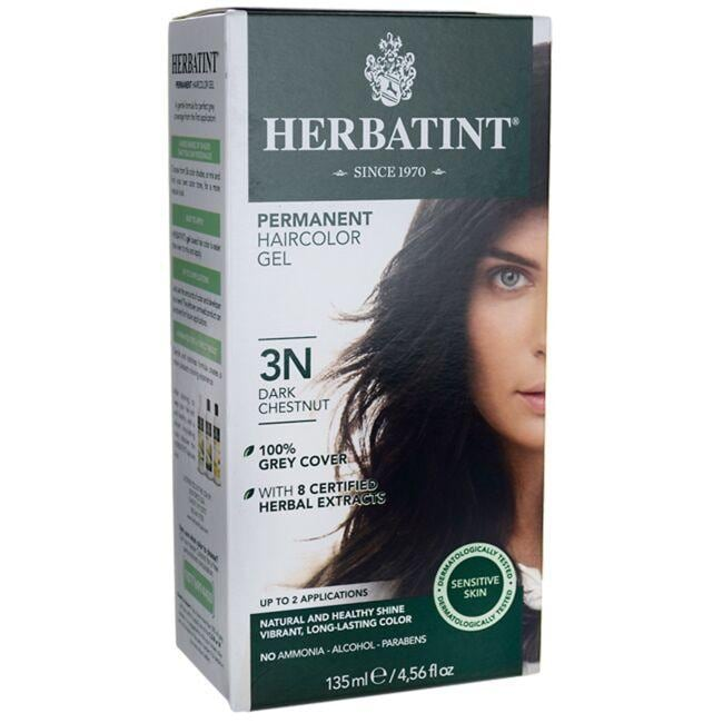 HerbatintPermanent Haircolor Gel 3N Dark Chestnut