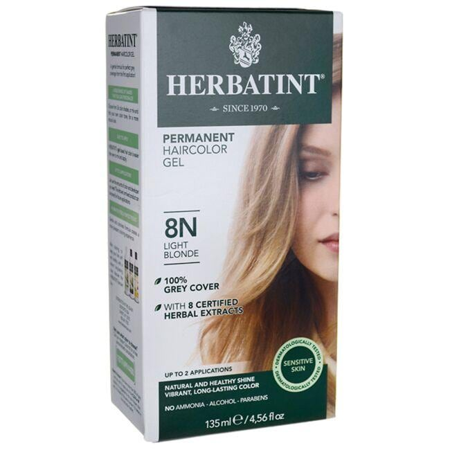 Herbatint Permanent Haircolor Gel 8N Light Blonde