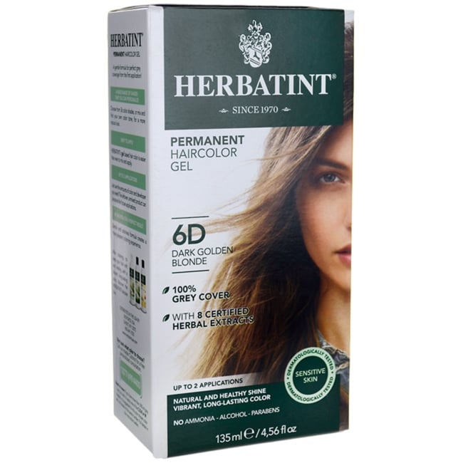 HerbatintPermanent Haircolor Gel 6D Dark Golden Blonde