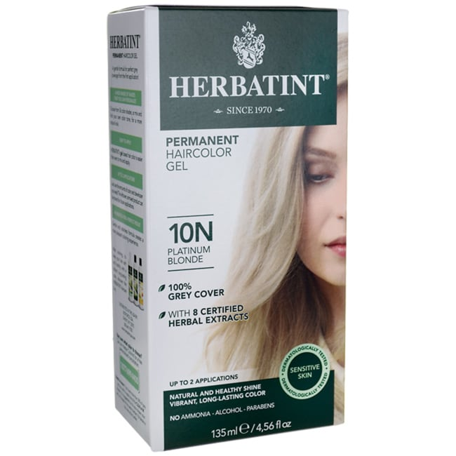 Herbatint Permanent Haircolor Gel 10N Platinum Blonde