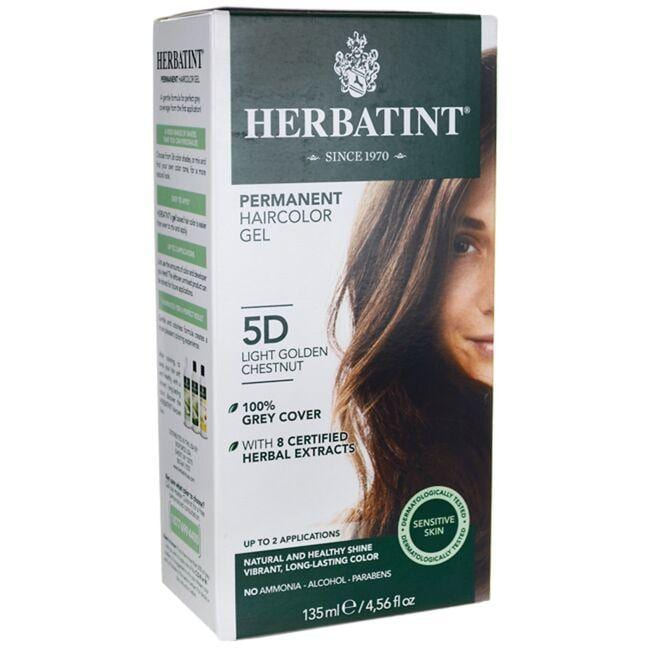 HerbatintPermanent Haircolor Gel 5D Light Golden Chestnut