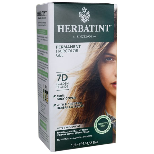 HerbatintPermanent Haircolor Gel 7D Golden Blonde