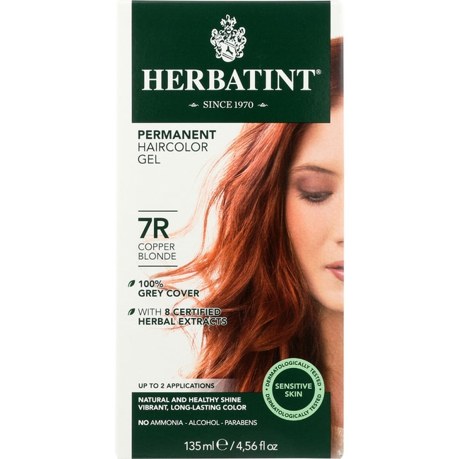 Herbatint Permanent Herbal Haircolor Gel 7R Copper Blonde