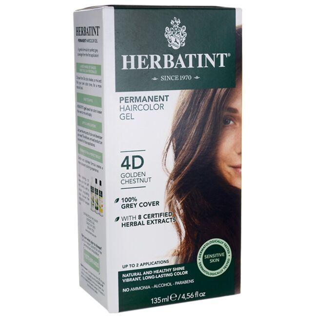 HerbatintPermanent Haircolor Gel 4D Golden Chestnut