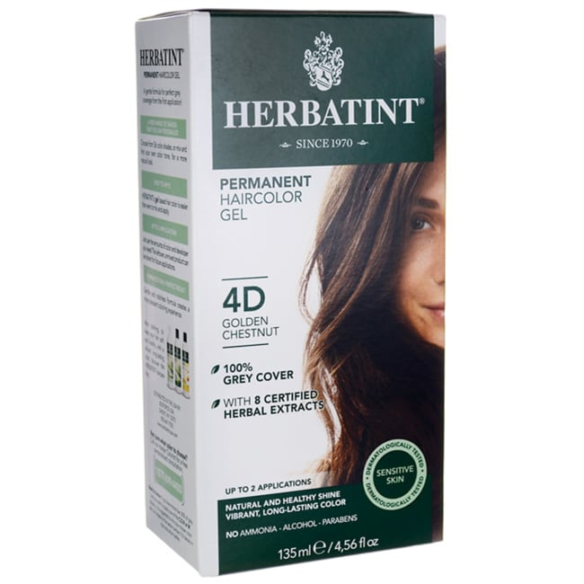 Herbatint Permanent Haircolor Gel 4D Golden Chestnut
