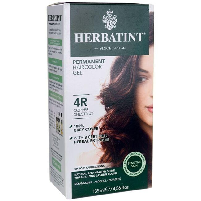 Herbatint Permanent Haircolor Gel 4R Copper Chestnut