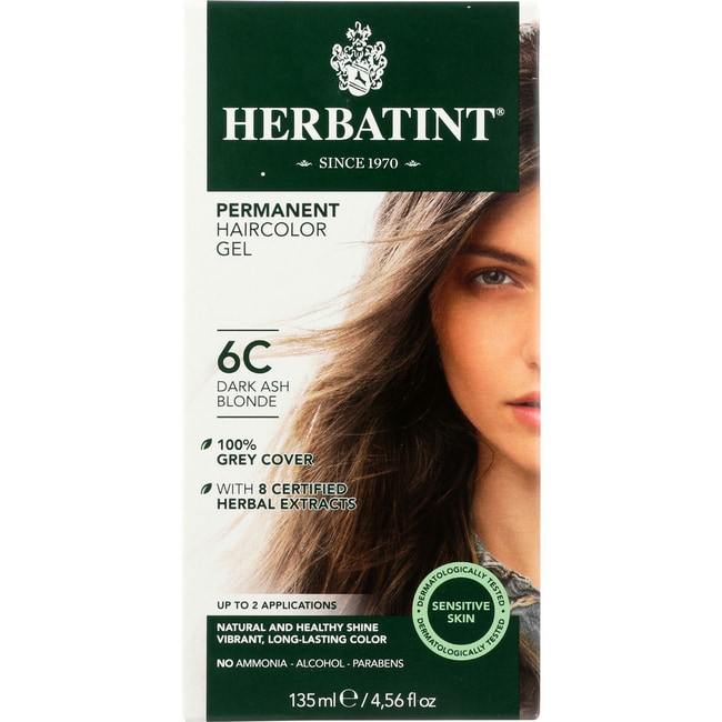 HerbatintPermanent Herbal Haircolor Gel 6C Dark Ash Blonde