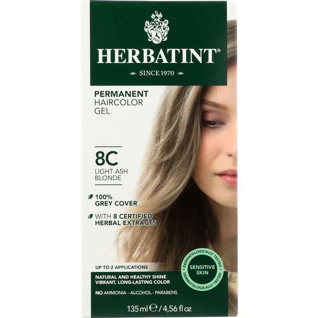 HerbatintPermanent Herbal Haircolor Gel 8C Light Ash Blonde