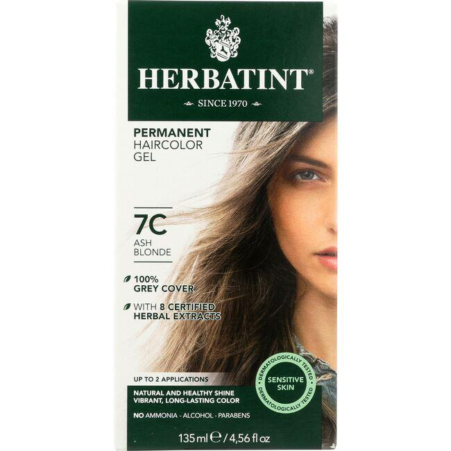Herbatint Permanent Herbal Haircolor Gel 7C Ash Blonde