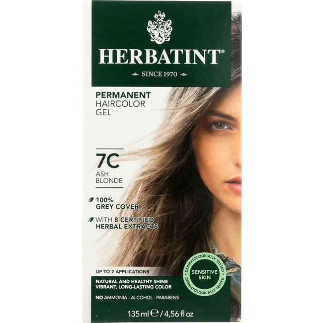 HerbatintPermanent Herbal Haircolor Gel 7C Ash Blonde