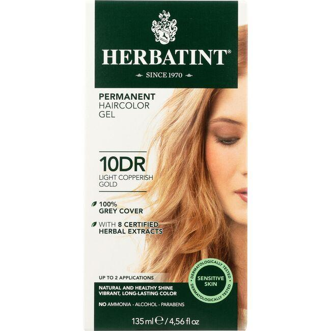 HerbatintPermanent Herbal Haircolor Gel 10 DR Light Copperish Go