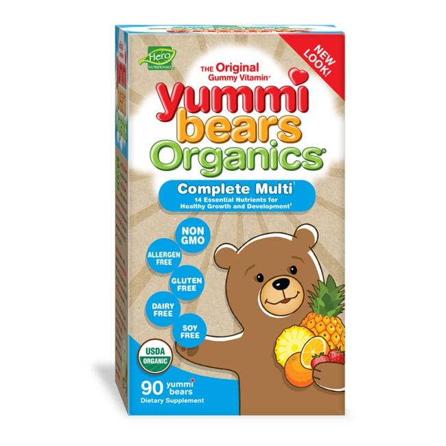 Hero Nutritionals Yummi Bears Organics Gummy Vitamins for Children