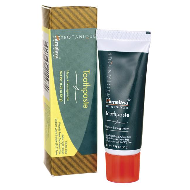 Himalaya Botanique Travel Size Toothpaste - Neem & Pomegranate