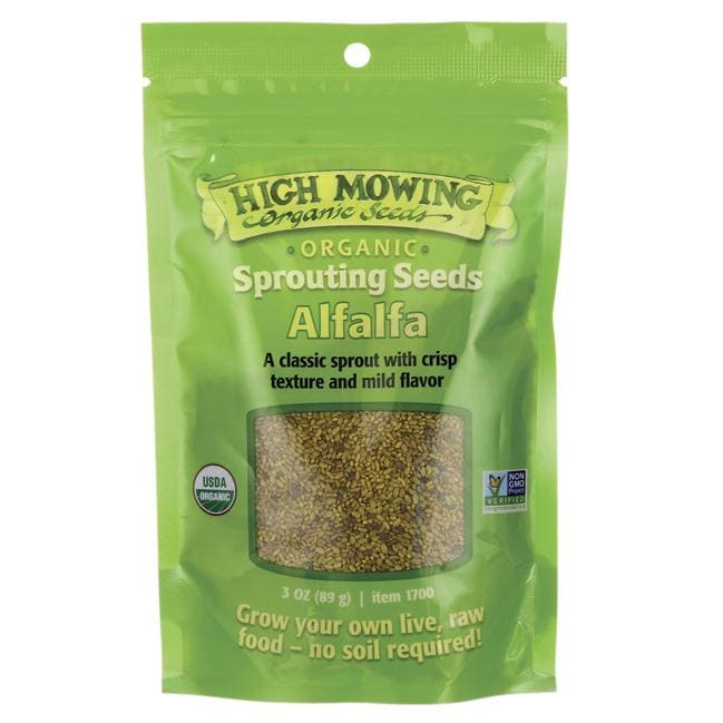 High Mowing Organic Seeds Sprouting Seeds Alfalfa