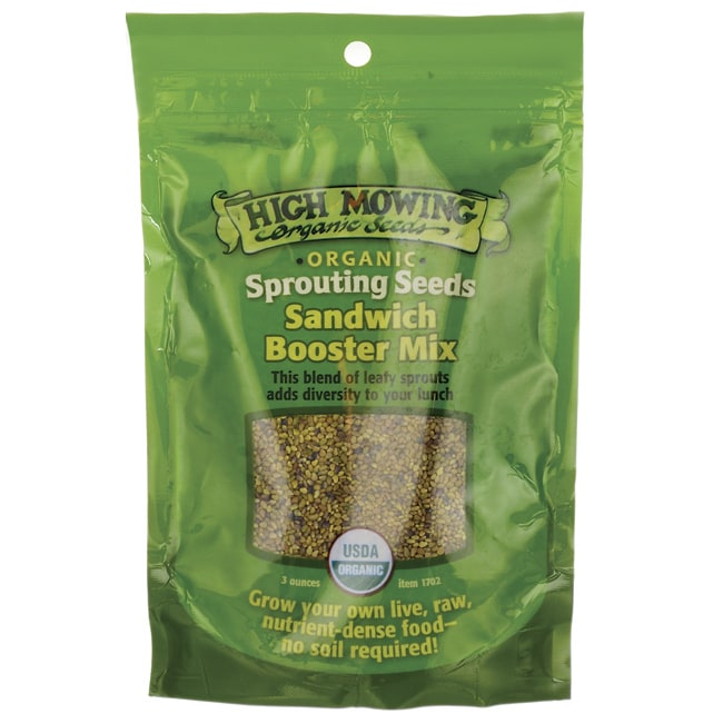 High Mowing Organic SeedsSprouting Seeds Sandwich Booster Mix