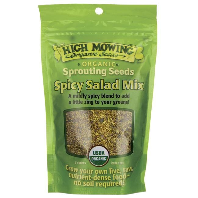 High Mowing Organic SeedsSprouting Seeds Spicy Salad Mix