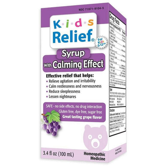 Homeolab USA Kids Relief Syrup With Calming Effect - Grape Flavor