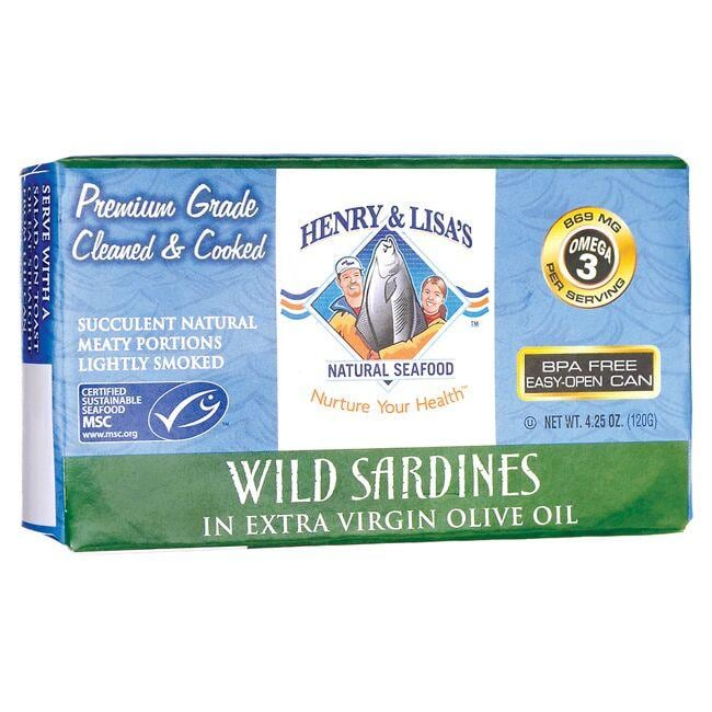Henry & Lisa's Natural SeafoodWild Sardines in Extra Virgin Olive Oil