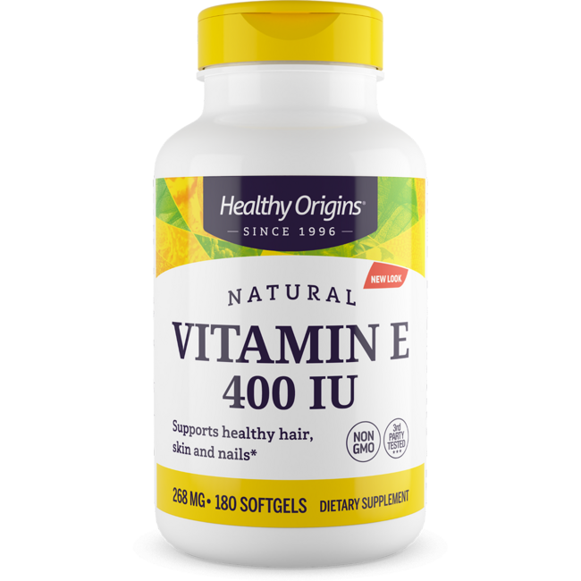 Healthy Origins E-400 100% Natural Mixed Tocopherols