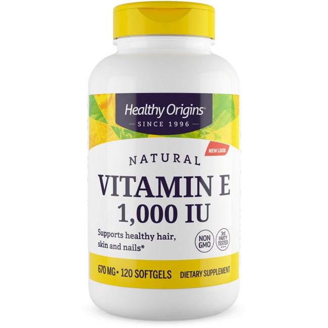 Healthy Origins100% Natural Vitamin E-1000 Mixed Tocopherols