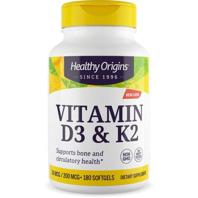 Healthy Origins Vitamin D3 & K2