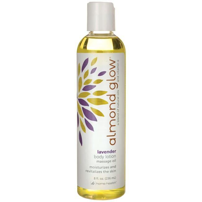 Home Health Almond Glow Body Lotion Massage Oil - Lavender